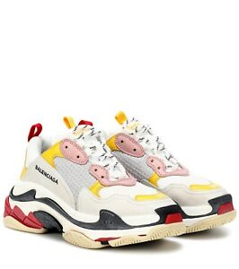 2eafb9040bcc Balenciaga Triple S Women s Trainers White   Grey   Yellow   Pink