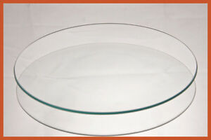 """9"""" Round Clear """"BENT"""" Glass Plate  1/8"""