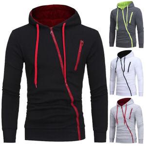 Men-039-s-Warm-Hoodie-Hooded-Sweatshirt-Outwear-Jacket-Coat-Sweater-Winter-Jumper