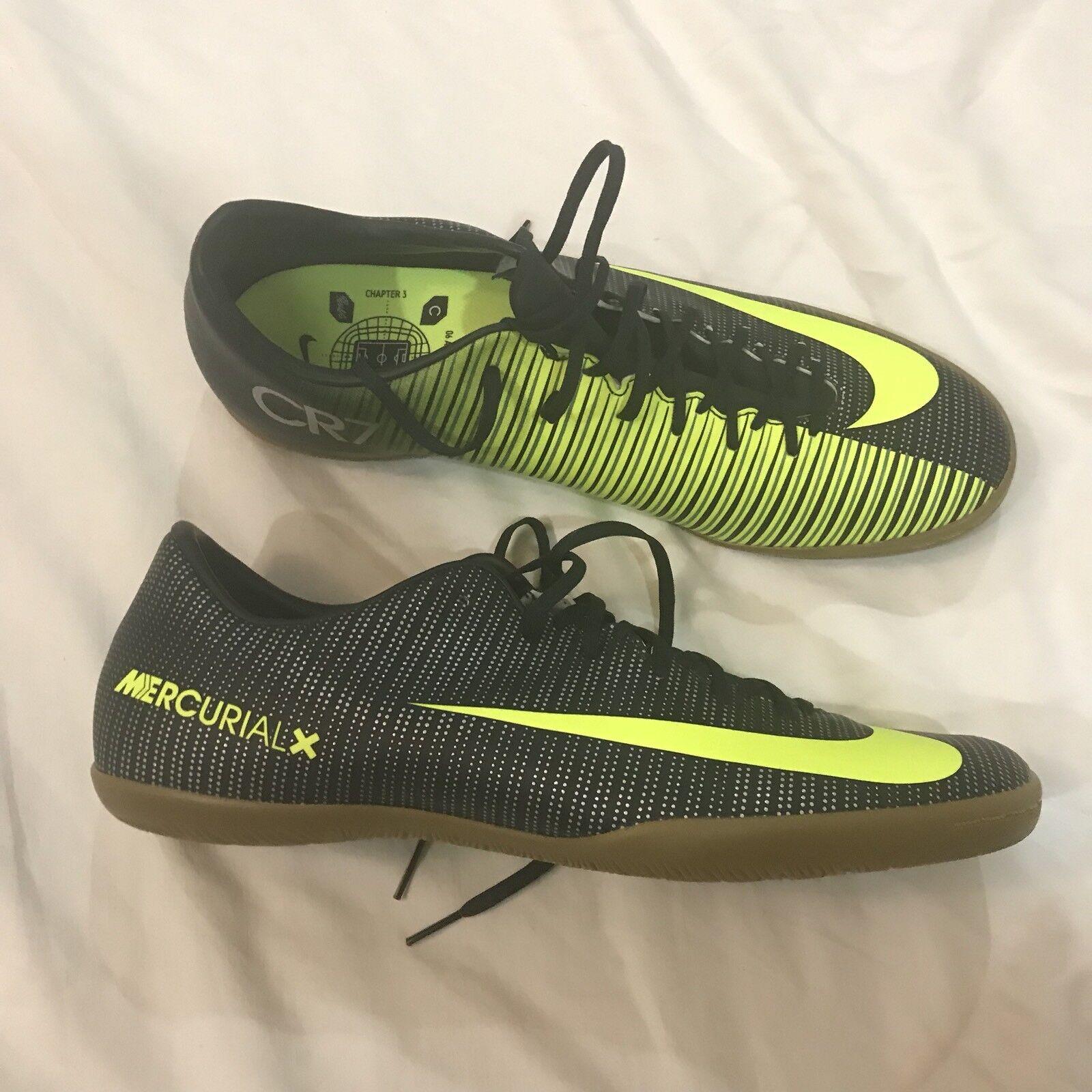 Nike mercurialx vittoria vi cr7 ic verde indoor corte calcio Uomo sz 11 1 / 2 (e0)