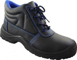 Arbeitsschuhe Stiefel S3 Sicherheitsschuhe Stahlkappe Schwarz Leder Gr 36-48