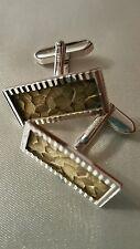 Manchettenknöpfe 800 Silber vergoldet, Cufflinks Silver Gold plated