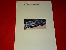 BMW 3er E36 5er E34 325td 325tds 525td 525tds Turbodiesel Prospekt von 1994