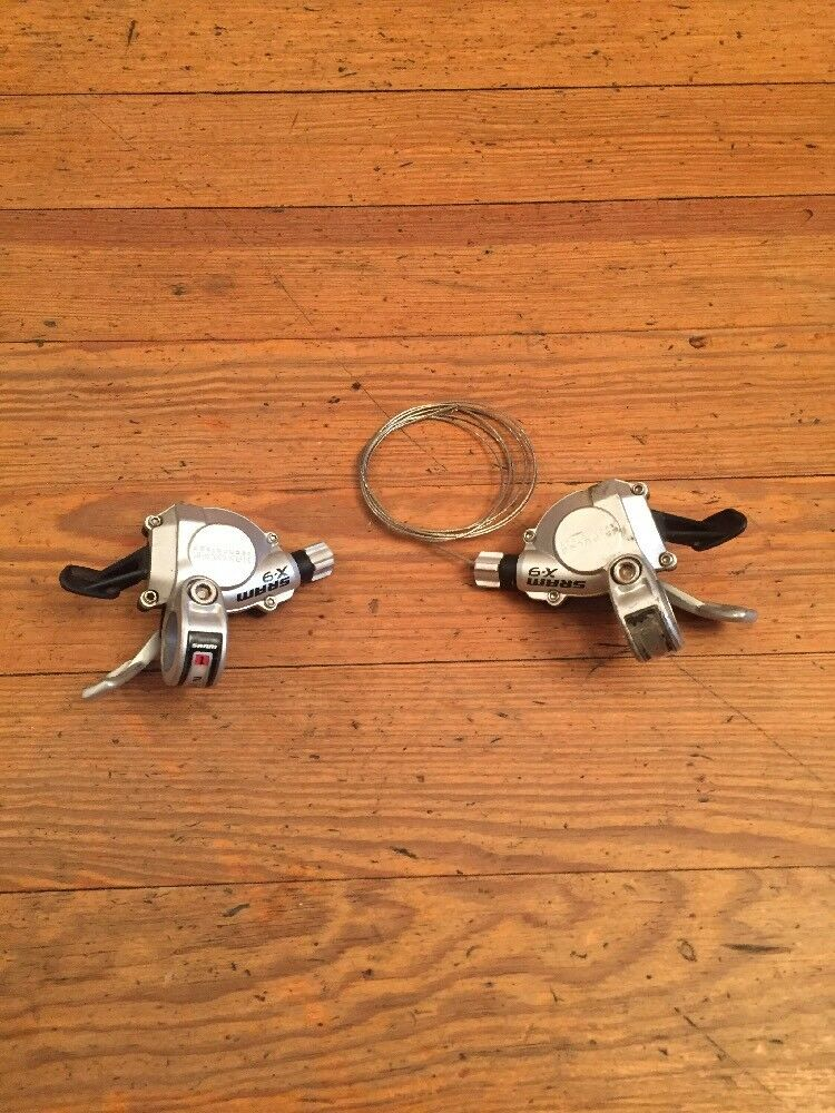 SRAM X-9 Mountain Bike Trigger Shifters 3 x 9 Speed