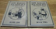 "Vintage 1924 New Barnes Readers ""The Kearny Plan"" Books 1 and 2 great condition"