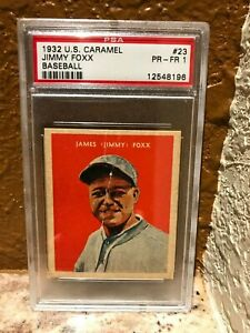 1932-U-S-Caramel-23-Jimmy-Foxx-HOF-PSA-1-near-perfect-centering
