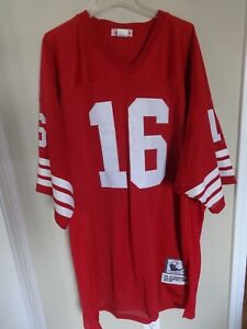 cfab02e6 Vtg Joe Montana 16 Mitchell & Ness San Francisco 49ers Throwback ...