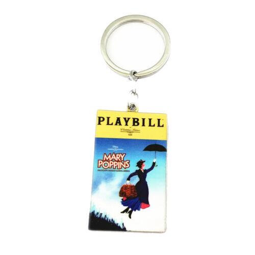 Mary Poppins Broadway Production Silvertone Charm Pendant Keychain