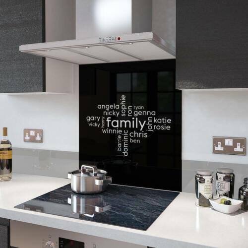 Tu propio collage de palabra en un vaso salpicaduras en Negro familia Collage