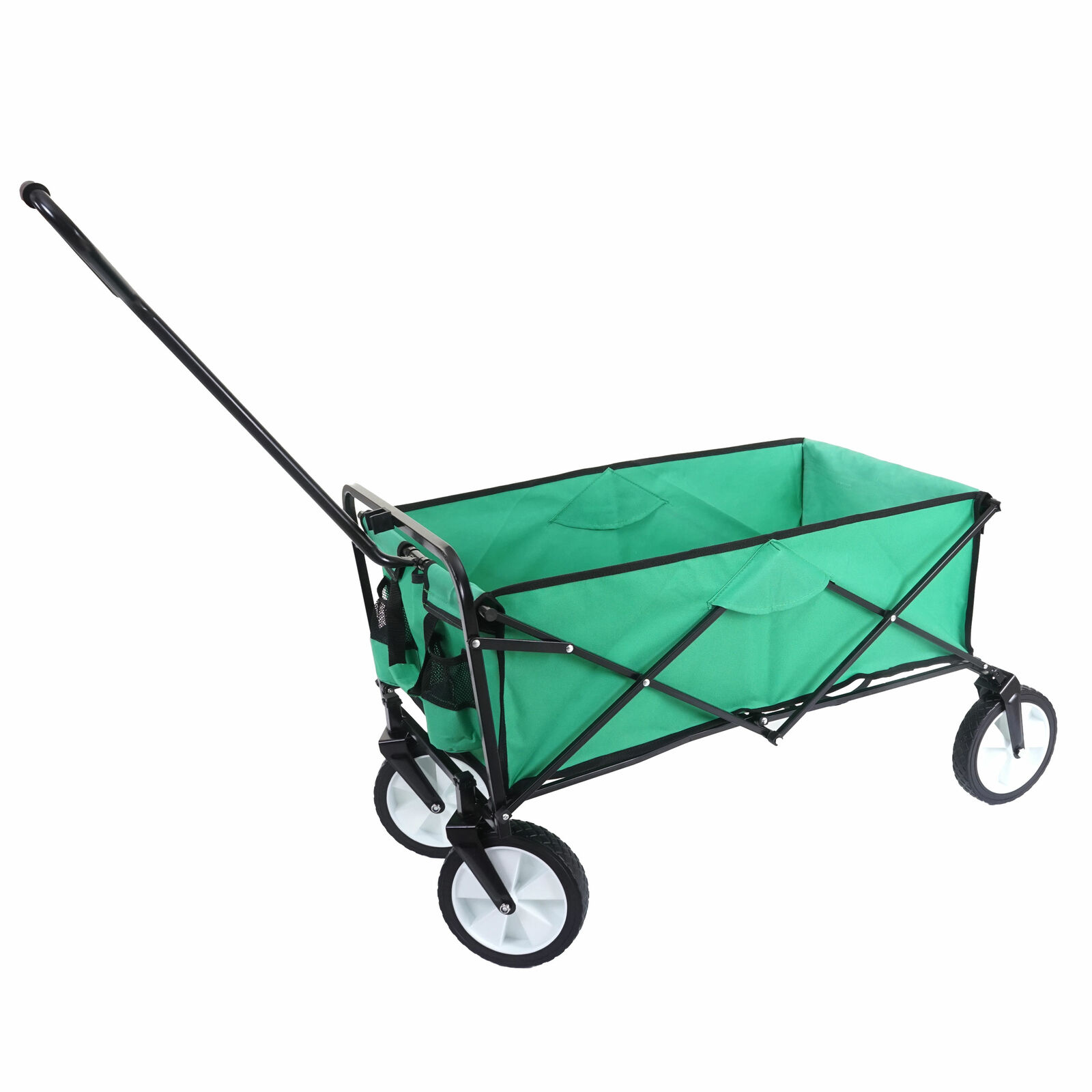 Faltbarer Bollerwagen HWC-E38 Handwagen klappbar ohne Dach Hecktasche grün grün grün 793392