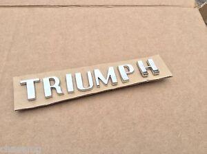 TRIUMPH-badge-CHROME-LETTER-SET-703862-tr2-tr3-Tr4-tr4a-gt6-spitfire-ROW2-N