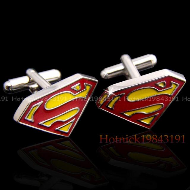 SUPER HERO CUFFLINKS MENS WEDDING NOVELTY SUPERHERO CUFF LINKS In Stock