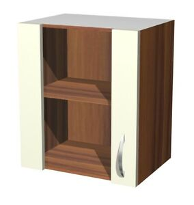 h ngeschrank mit glast r 50 cm creme sienna ebay. Black Bedroom Furniture Sets. Home Design Ideas