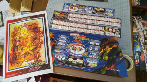 Marquee Art Set for Sega Blast City Marvel vs CAPCOM 2 BACKLIT Naomi Jamma