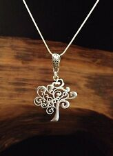 """Sterling Silver Tree of Life Pendant Necklace 18"""" Chain Jewelry"""