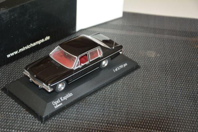 Minichamps  Opel  Kapitän  1969-77 schwarz 1:43  OVP !