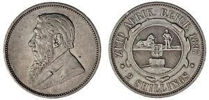 2-SILVER-SHILLINGS-SOUTH-AFRICA-2-CHELINES-PLATA-SUDAFRICA-KRUGER-1897-XF-EBC