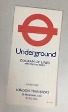 Vintage London Underground Map - Diagram Of Lines 1974