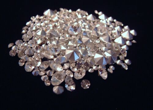500 CRYSTAL CLEAR RHINESTONES MIXED SIZES CRAFTS JEWELRY REPAIR LOOSE