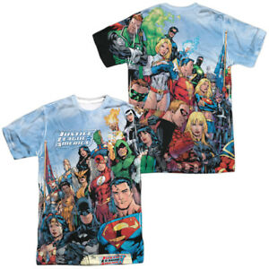 Justice-League-Of-America-JLA-Team-Group-Sublimation-Allover-Front-Back-T-shirt