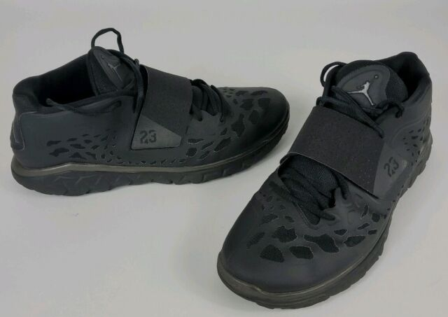 half off 78ae7 394ec Men's Nike Jordan Flight Flex Trainer 2 Black 768911-010 Sneakers Sz 14