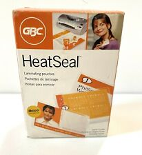 Gmb Heatseal Laminating Pouches Id Badge Size 7 Mil 100 Pack Crystal Clear