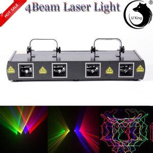 Wonderbaarlijk Bühnen Licht 460mW 4 Lens Beam RGPY DJ Laser Light Party Show DMX UQ-91