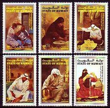 Kuwait 1998 ** Mi.1590/95 Berufe Handicrafts Barbier