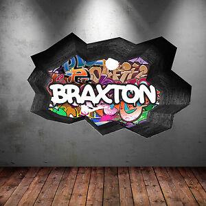 Volle farbe personalisiert graffiti name ausgebrochenes wand sticker aufkleber ebay - Wandsticker graffiti ...