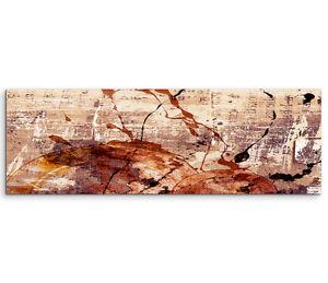 Leinwandbild Panorama rot braun beige Paul Sinus Abstrakt/_530/_150x50cm