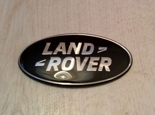 105mm LARGE LAND ROVER DISCOVERY 4 BLACK /& SILVER FRONT GRILL SUPERCHARGED BADGE