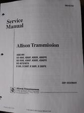 allison md hd b series transmission wtec ii controls