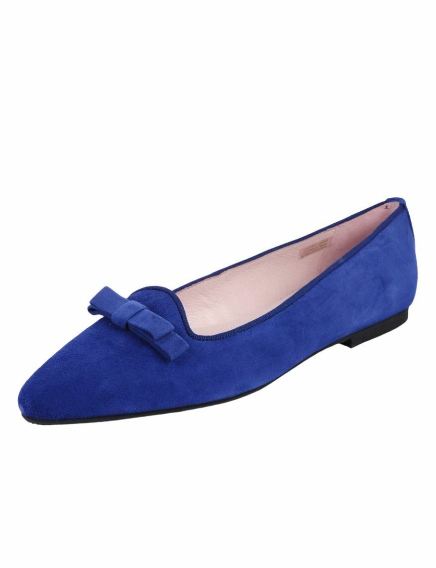 Patricia Green Collection Penelope Cobalt Blue Suede Flat, Size 11