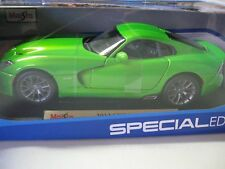 Maisto1:18 2013 Dodge Viper SRT GTS Diecast LIME GREEN