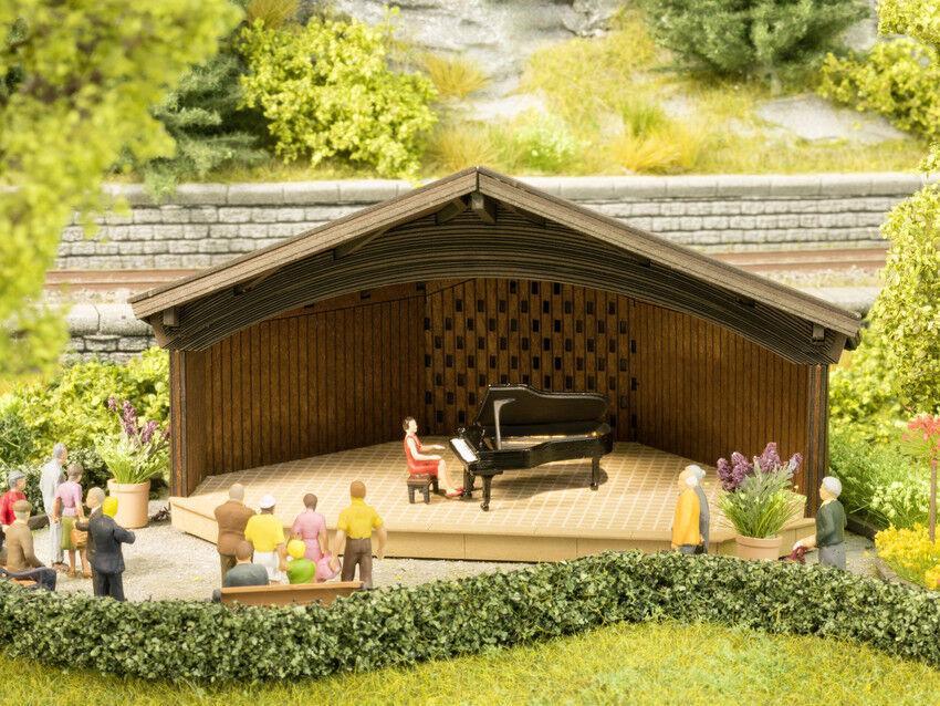 Noch H0 66827 Laser-Cut Kurkonzert mit micro-sound Klavierspiel Klavierspiel Klavierspiel NEU OVP    Passend In Der Farbe  645585