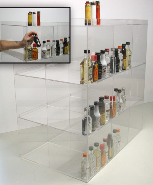 commercial display for mini sampler 50ml liquor shot airplane