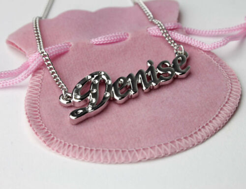 """/""""DENISE/"""" Name Necklace 18K Gold PlatedHigh QualityChristmas Gift"""