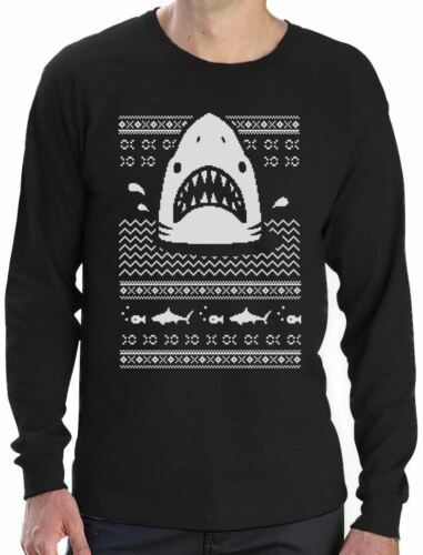 Great White Shark Ugly Christmas Sweater Long Sleeve T-Shirt Gift