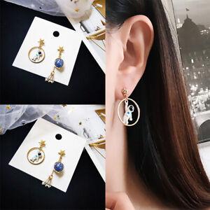 Creative-Girls-Earrings-Planet-Series-Astronauts-Moon-Earring-Party-jewelry