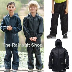 REGATTA-KIDS-WATERPROOF-STORMBREAK-JACKET-amp-TROUSERS-SUIT-BOYS-GIRLS-CHILDS-COAT