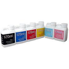 6 Multi-Color 120ml bottles ink Epson Printer Dye Sublimation Ink  Heat Transfer
