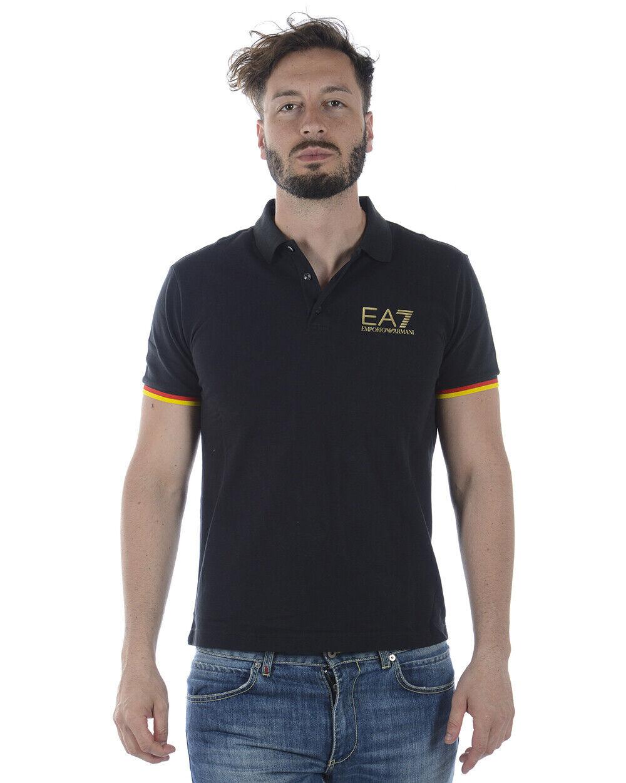 Polo Emporio Armani EA7 Polo Shirt Cotone Uomo Nero 3ZPFA3PJ04Z 1200