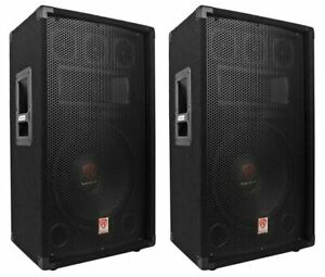 2-Rockville-RSG12-4-12-3-Way-1000-Watt-4-Ohm-Passive-DJ-Pro-Audio-PA-Speakers