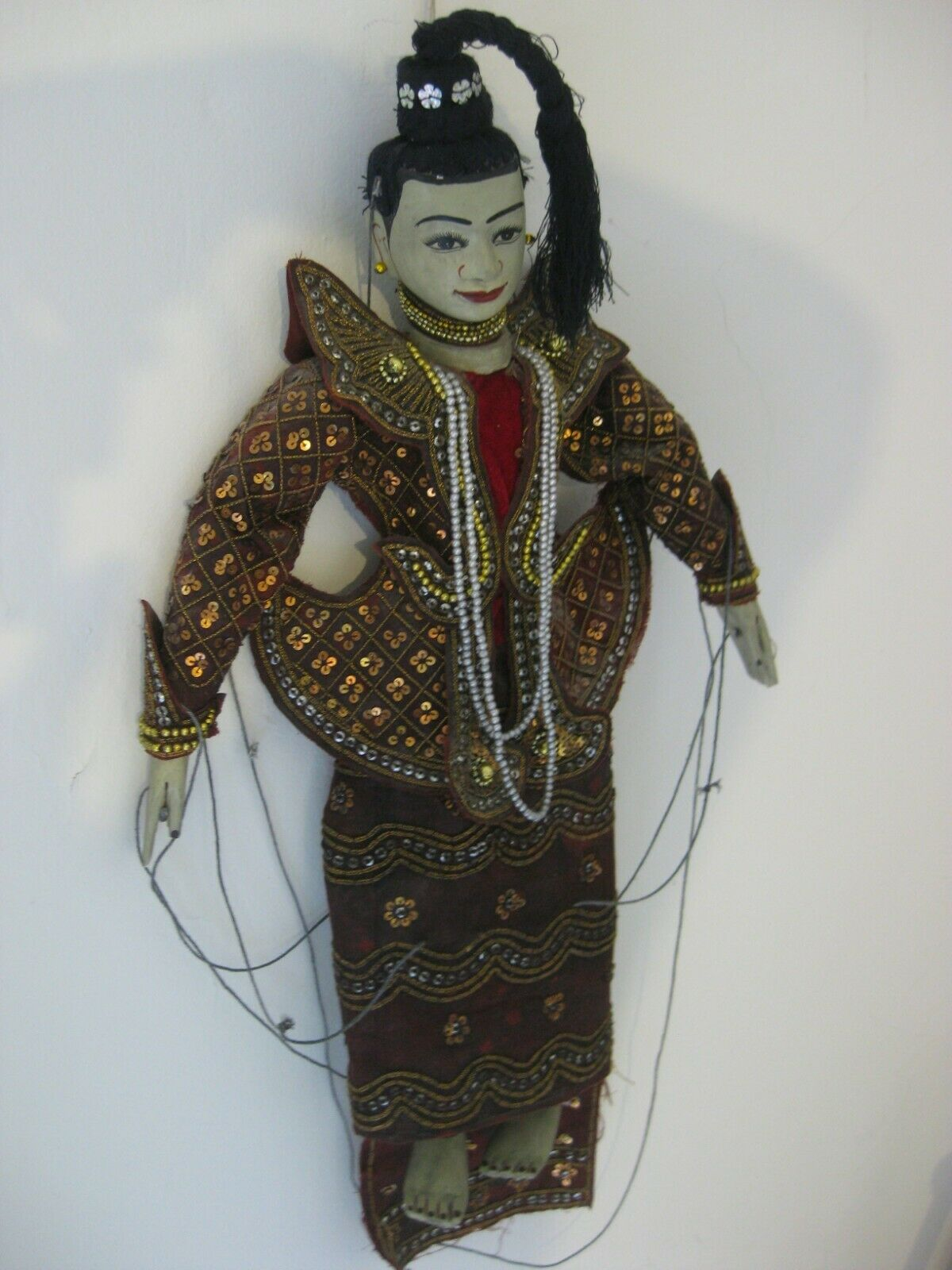 Oriental String Marionette From (Myanmar   Burma) Authentic Hand Made-Colourful