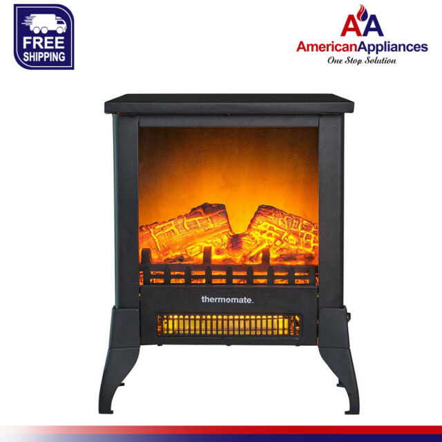 Thermomate Electric Fireplace Stove Eff141 Portable Freestanding Fireplace For Sale Online Ebay