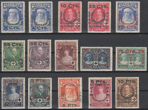 Serie-Anniversaire-jura-Constitution-Alfonso-XIII-373-387-Annee-1927-MH