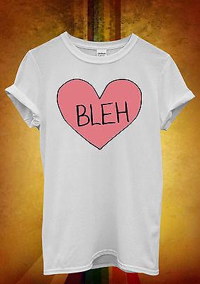Bleh Broken Pink Heart Whatever Cool Men Women Unisex T Shirt Tank Top Vest 559