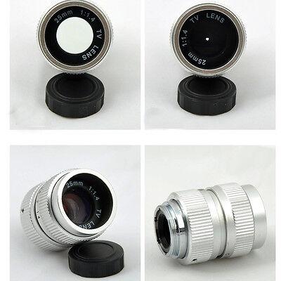 FUJIAN25mm f/1.4 C Mount CCTV TV Lens body silver for NEX EOS Micro 4/3 FX N1 M
