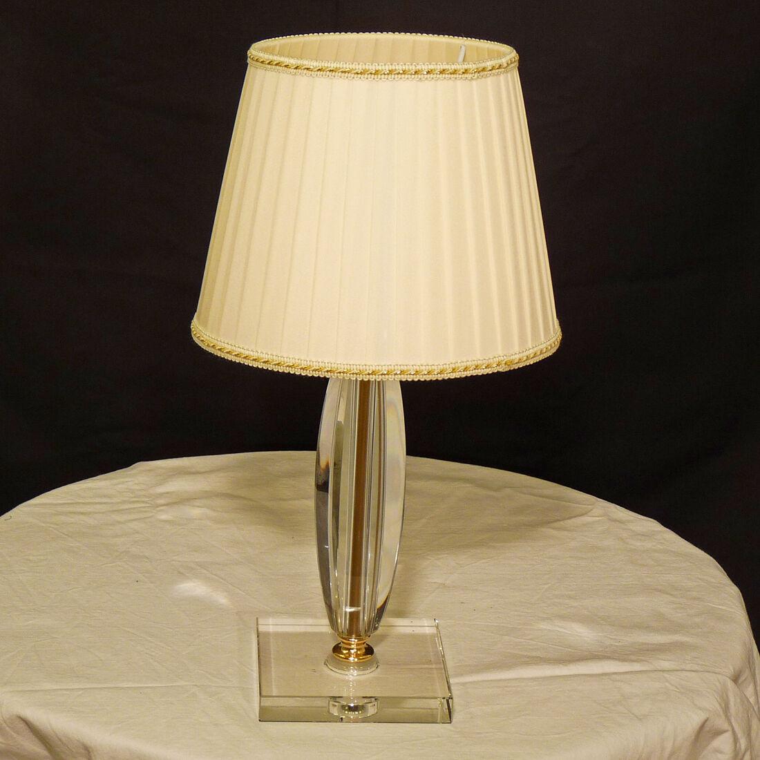 LUME LED LAMPADA DA TAVOLO COL.LUCA P CRISTALLO VETRO VETRO CRISTALLO ORO PARALUME PLISSE' e6b411