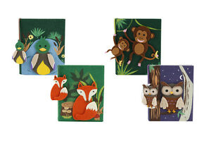 CUTE FELT ANIMAL NOTEBOOK - CHOOSE YOUR DESIGN - BRAND NEW OWL, FOX, MONKEY